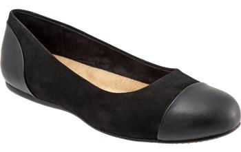 Sonoma cap toe flat | 40plusstyle.com