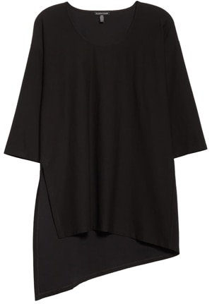 asymmetrical tunic top | 40plusstyle.com