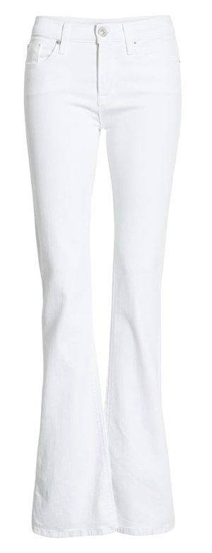 White bootcut jeans | 40plusstyle.com