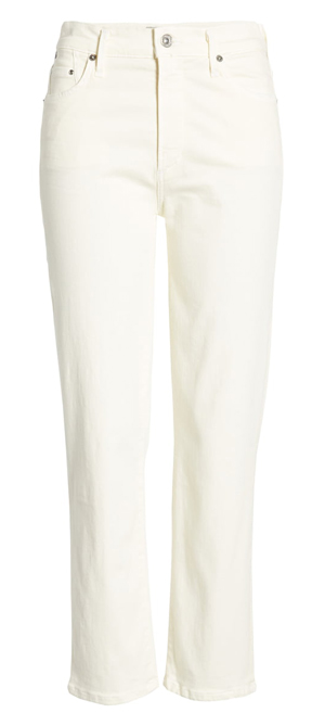 Off white jeans | 40plusstyle.com