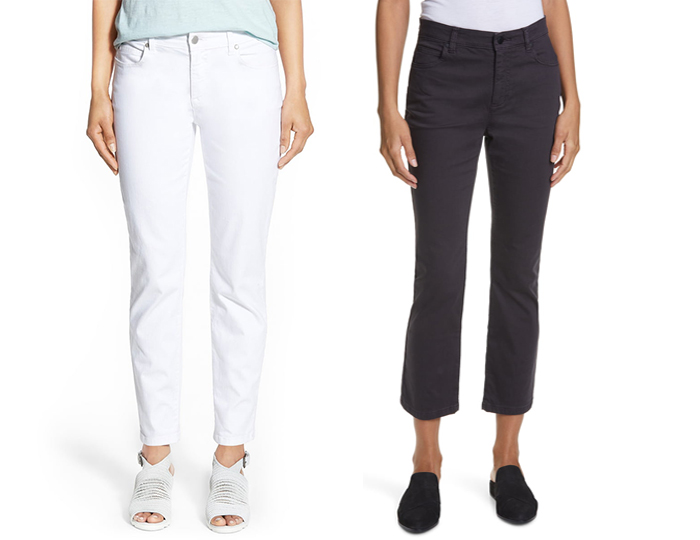 Eileen Fisher jeans | 40plusstyle.com
