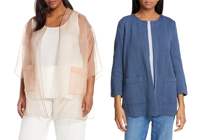 Textured pieces from Eileen Fisher | 40plusstyle.com