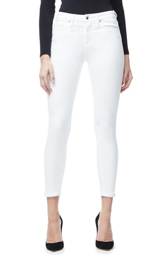 Good American high rise crop skinny jeans   40plusstyle.com