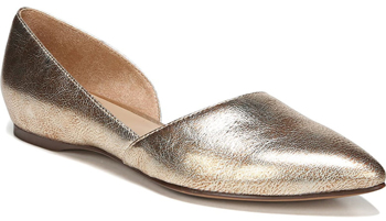 Gold half d'orsay flata | 40plusstyle.com