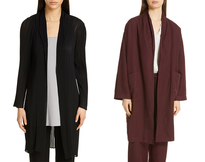 Eileen Fisher cardigans and jackets | 40plusstyle.com