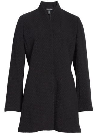 long jacquard jacket | 40plusstyle.com