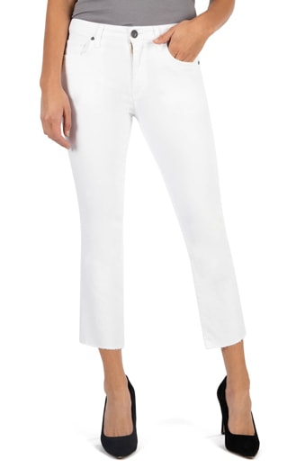 Cropped white jeans   40plusstyle.com
