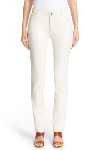 Waxed denim jeans   40plusstyle.com