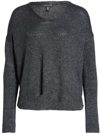 organic linen blend sweater | 40plusstyle.com