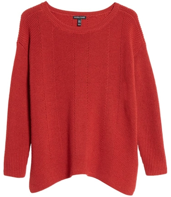 bateau neck merino wool sweater | 40plusstyle.com