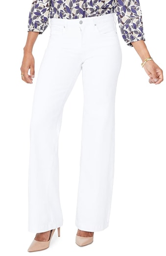 NYDJ wide leg trouser jeans   40plusstyle.com
