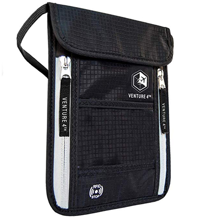 Travel Neck Pouch Neck Wallet with RFID Blocking | 40plusstyle.com