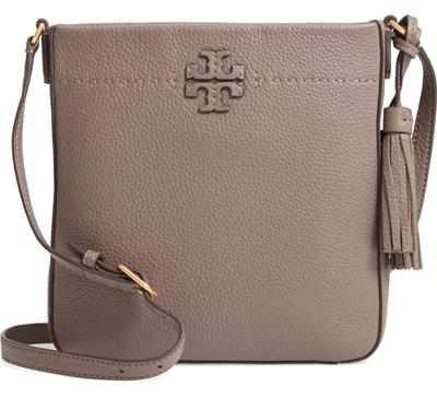 McGraw Leather Crossbody Tote | 40plusstyle.com
