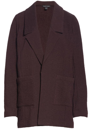 notched collar textured jacket | 40plusstyle.com