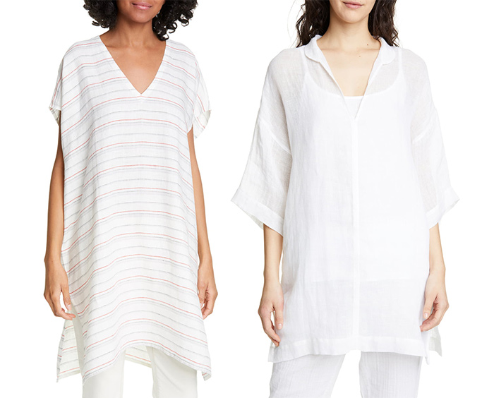 Tunics from Eileen Fisher | 40plusstyle.com