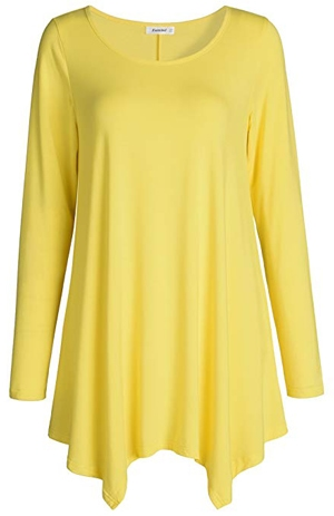 yellow tunic top | 40plusstyle.com