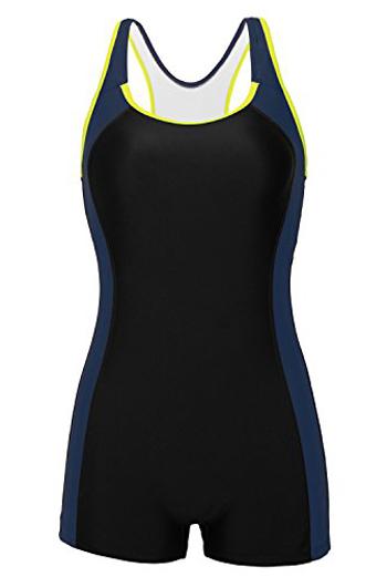 Beautyin boyleg swimsuit| 40plusstyle.com