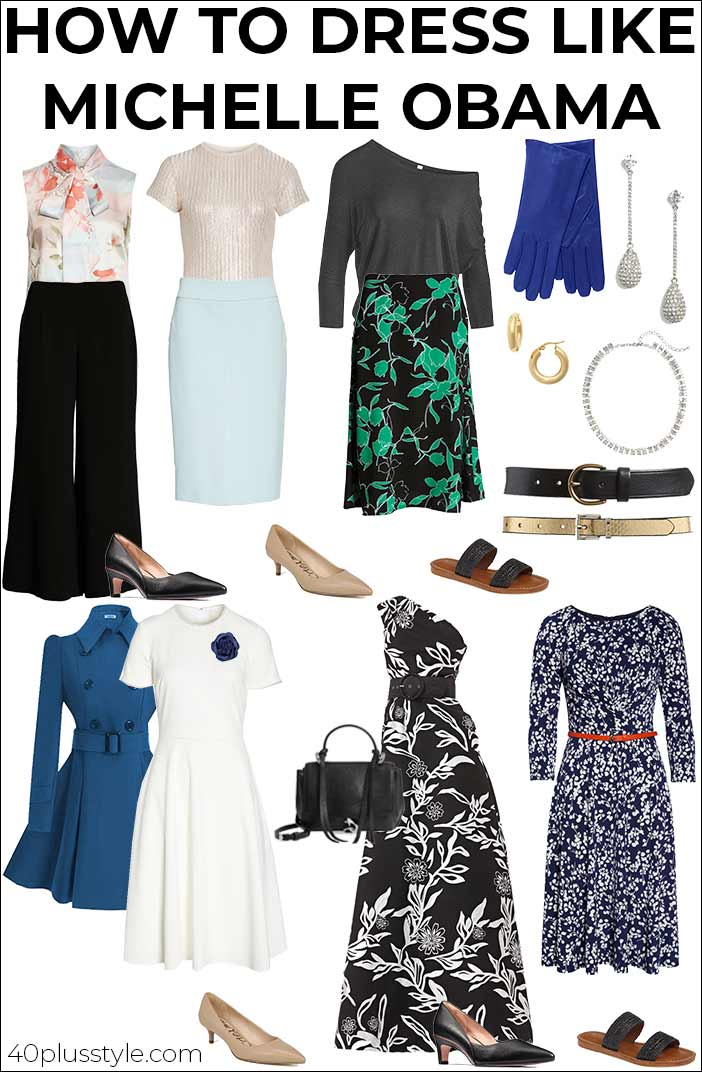 How to dress like Michelle Obama | 40plusstyle.com