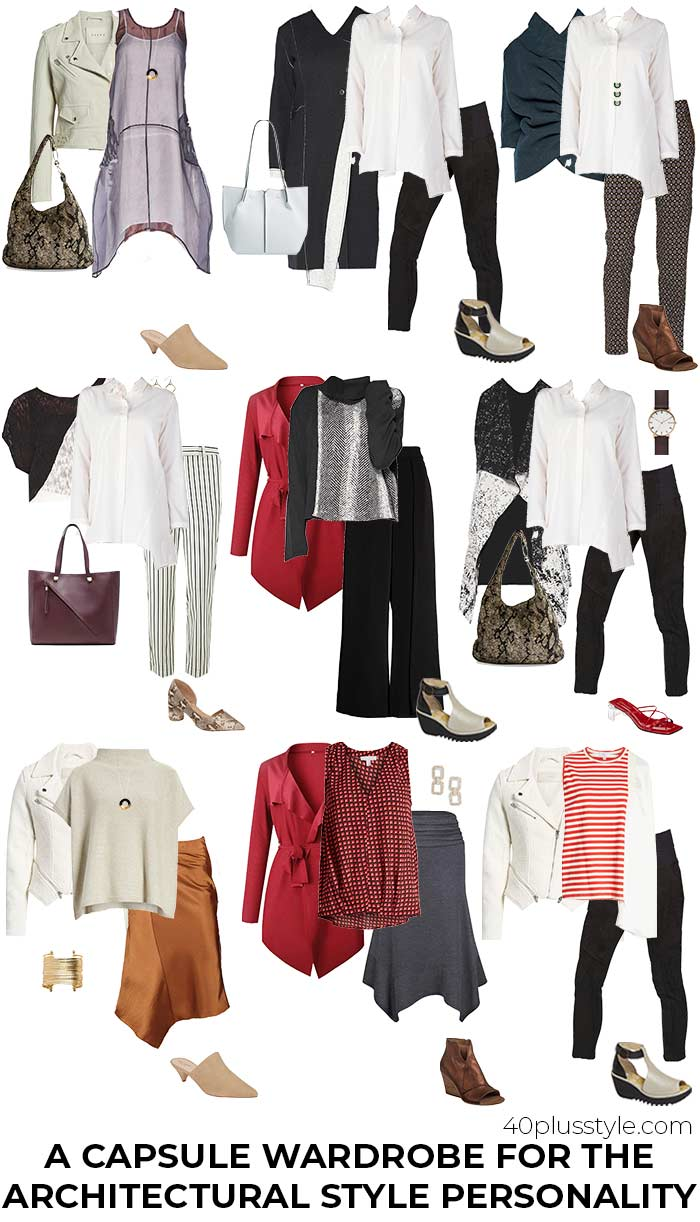 A capsule wardrobe for the architectural style personality | 40plusstyle.com