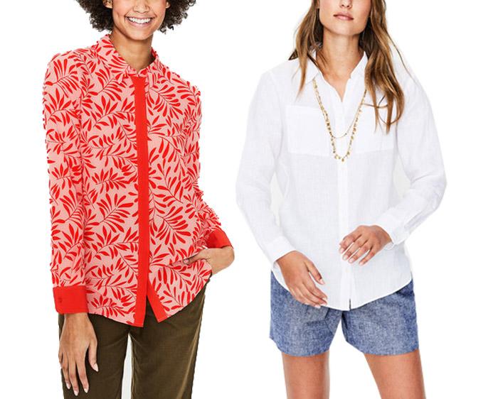 Boden blouses | 40plusstyle.com