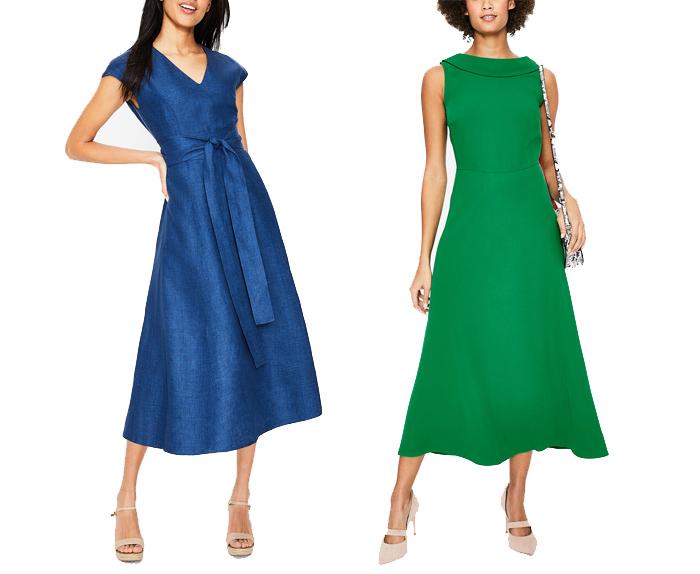 Boden formal dresses | 40plusstyle.com