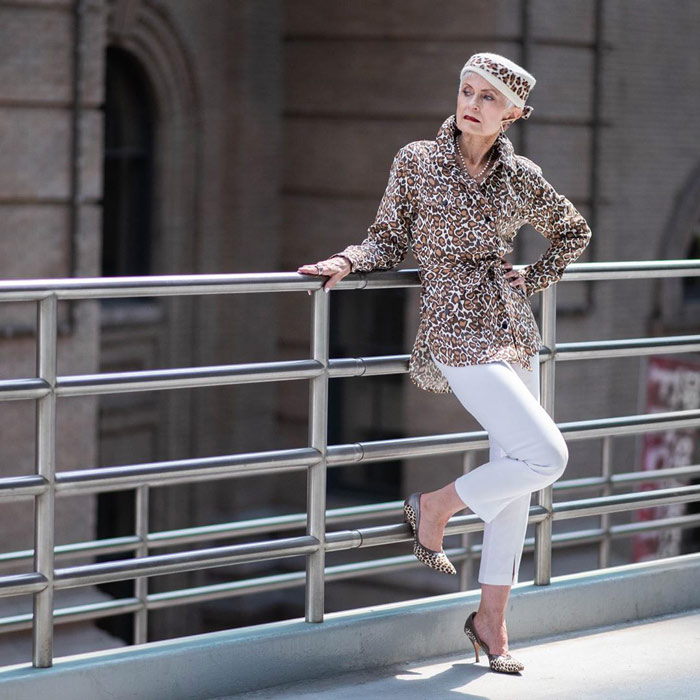 leopard print with cropped pants | 40plusstyle.com