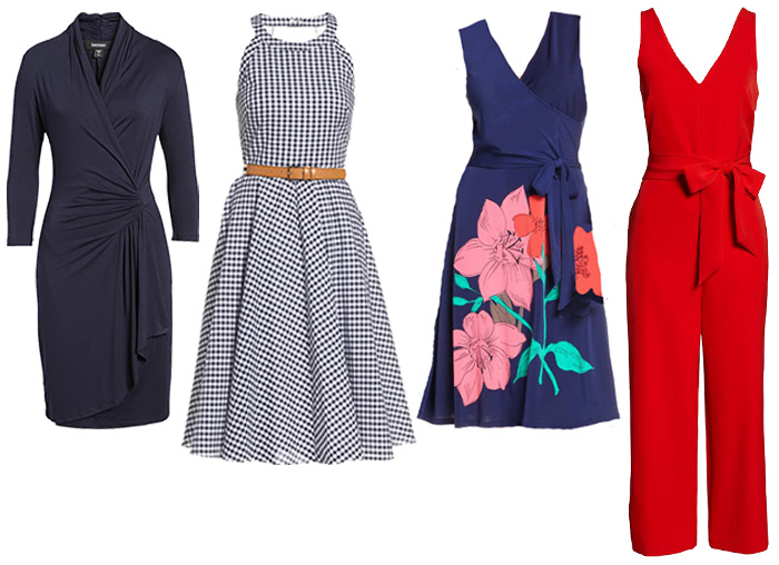dresses and jumpsuit for the hourglass body shape | 40plusstyle.com