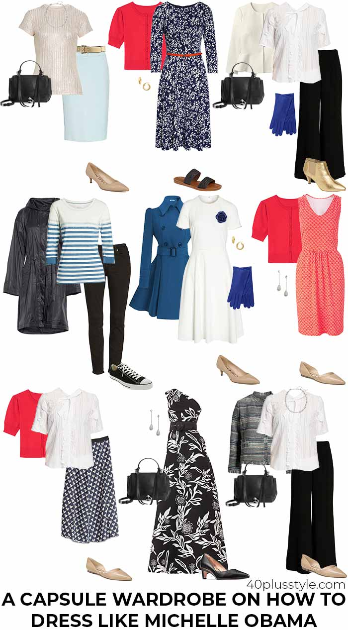 How to dress like Michelle Obama: a capsule wardrobe | 40plusstyle.com