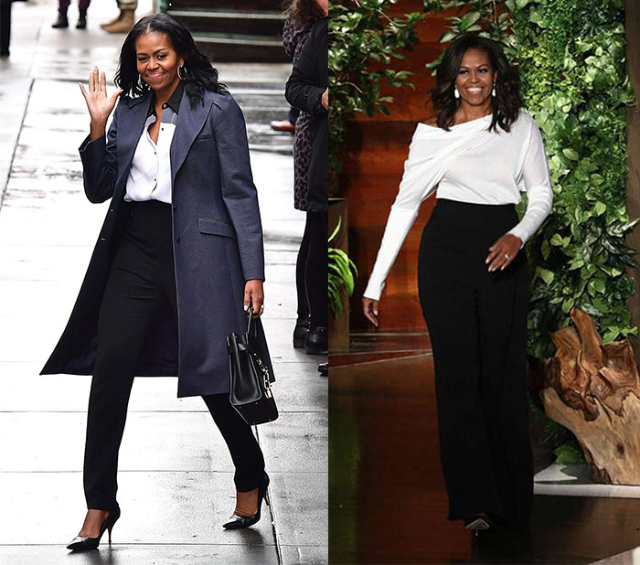 Michelle Obama wearing monochrome outfits | 40plusstyle.com