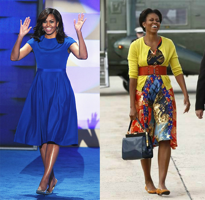 Michelle Obama retro-style outfits | 40plusstyle.com