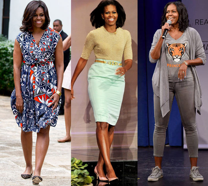 Michelle Obama's shoes | 40plusstyle.com