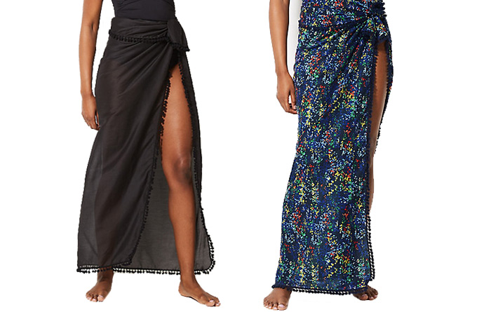 Marks and Spencer sarongs | 40plusstyle.com