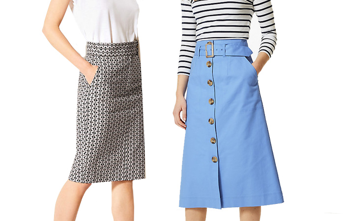 Marks and Spencer skirts | 40plusstyle.com