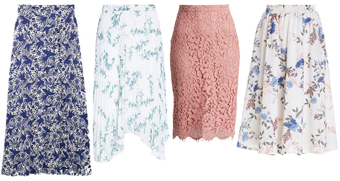 skirts for the romantic style personality | 40plusstyle.com