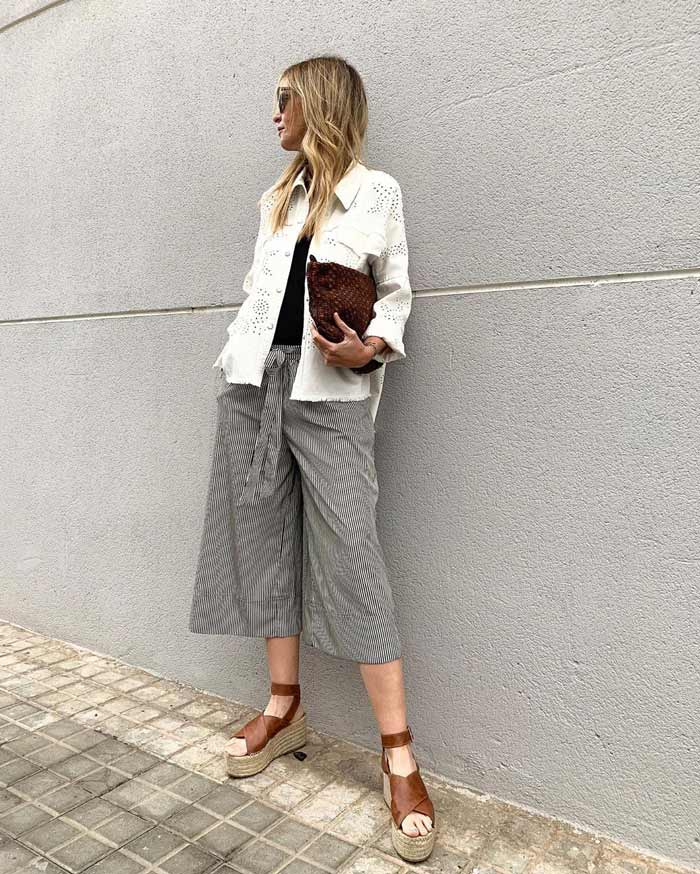shoes to wear with cropped pants | 40plusstyle.com