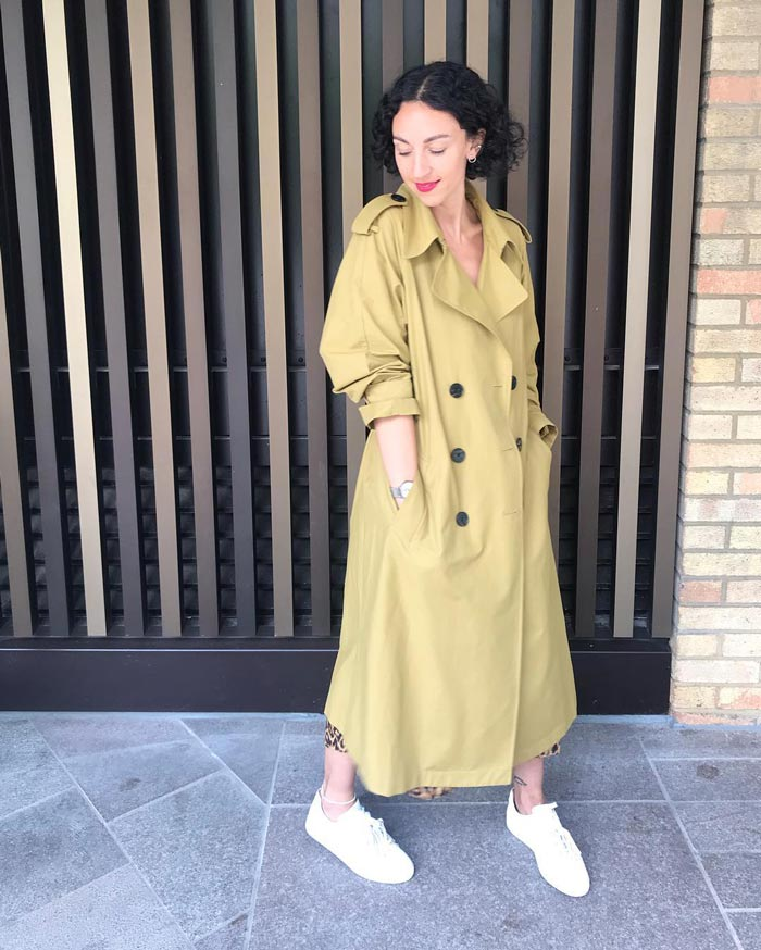 Double breasted trench coat | 40plusstyle.com