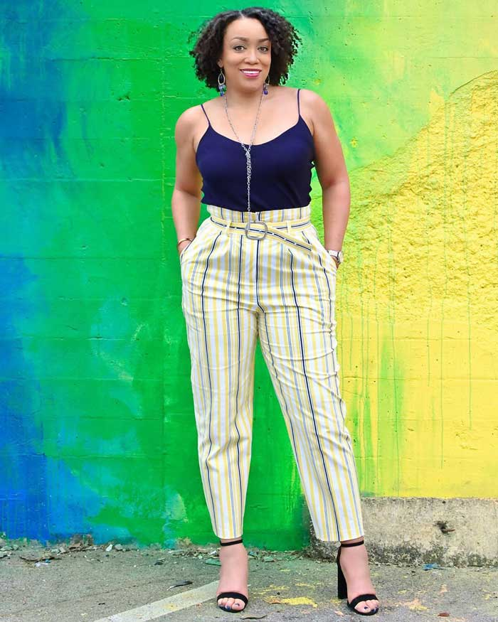 patterned pants ideas for women over 40 | 40plusstyle.com