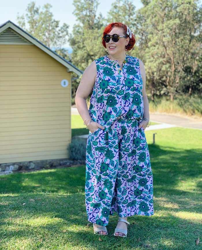 floral jumpsuit | 40plusstyle.com