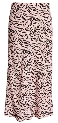 AFRM print midi skirt | 40plusstyle.com