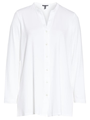 White long sleeve blouse | 40plusstyle.com