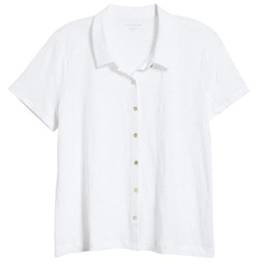 White short sleeve blouse   40plusstyle.com