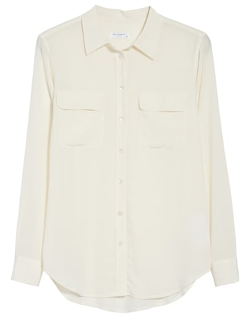 White sheer blouse | 40plusstyle.com