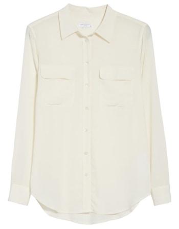 White sheer blouse | 40plusstyle.com