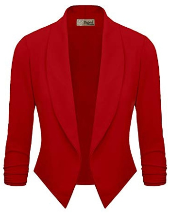Red cropped jacket | 40plusstyle.com
