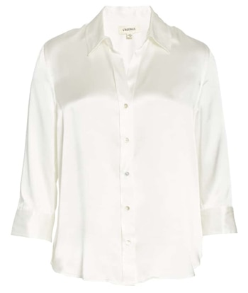 White silk shirt | 40plusstyle.com