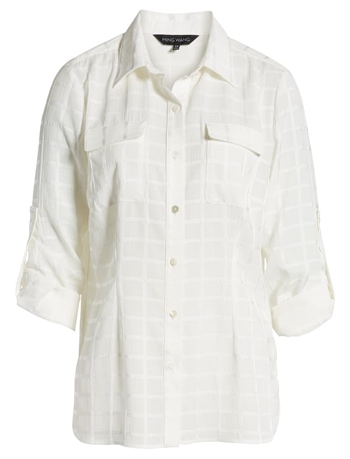 White see-through shirt | 40plusstyle.com