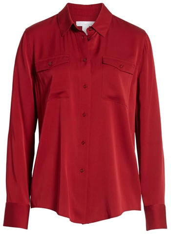 Nordstrom two-pocket silk shirt from the Nordstrom Anniversary Sale | 40plusstyle.com