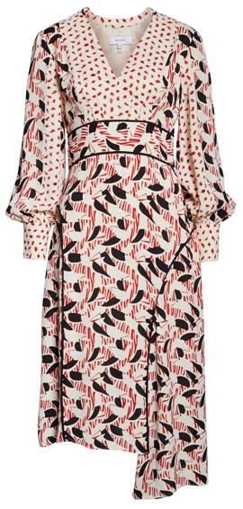 Reiss asymmetrical dress | 40plusstyle.com