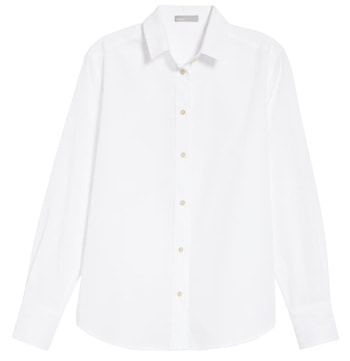 White oversized shirt | 40plusstyle.com