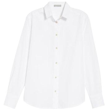 White oversized shirt   40plusstyle.com